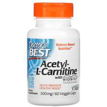 Doctor's Best Acetyl-L-Carnitine with Biosint Carnitines 500 mg 60 Veggie Caps