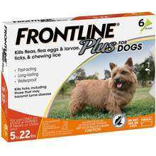 Frontline Plus for Dogs 022 lbs, 6 Month