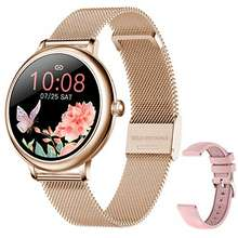 SKMEI Smart Watch for Women, Smart Watches for Android iPhones with Female Function, Waterproof Fitness Activity Tracker with Heart Rate Blood Pressure Monitor Call Reminder