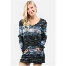 London Rag Textured Multi Color Sweater