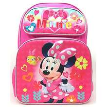 """Minnie Mouse Deluxe Girls' 3D 16"""" Large Pink Backpack"""