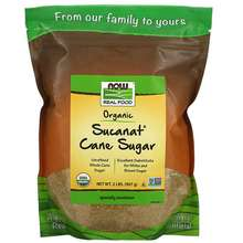 NOW Foods Real Food Certified Organic Sucanat Cane Sugar 2 lbs (907 g)