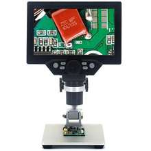 Nice-power 7 inch LCD USB 12MP 1-1200X Digital Microscope Electronic Continuous Amplification Magnifier Rechargeable Battery for Circuit Board Repair.