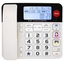 KerLiTar P047W Home Landline Phone with Caller ID Upgrade Corded Phone for Home with Luminous & Large Button/Clear Volume/SOS Emergency Button/Speed.