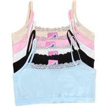5pcs/lot Young Girls Bras Comfortable Student Underwear Lace Cotton Children Undergarment Clothes
