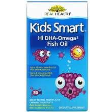 Bioglan Kids Smart Hi DHA-Omega 3 Fish Oil Great Tasting Fruit Flavor 30 Chewable Burstlets