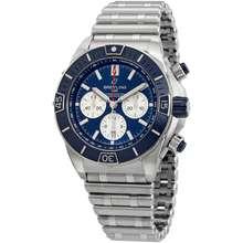 Breitling Super Chronomat B01 Chronograph Automatic Chronometer Blue Dial Mens Watch AB0136161C1A1
