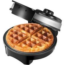 Aicok Mini Waffle Maker Iron, Belgian Waffle Irons, Adjustable Temperature Dial, Mess Free Moat, Nonstick Plates & Cool Touch Hand