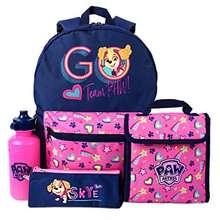 Paw Patrol School Backpack, Lunch bag, Pencil Case & Bottle Set Girl's 4 Piece