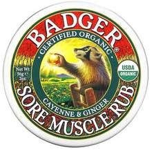 Badger Company Organic Sore Muscle Rub Cayenne & Ginger 2 oz (56 g)