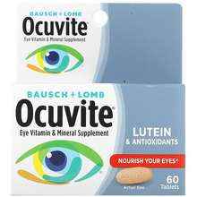 Bausch + Lomb Eye Vitamin & Mineral Supplement Lutein & Antioxidants 60 Tablets