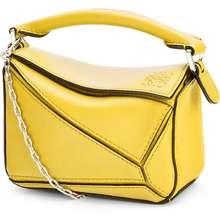 Loewe Nano Puzzle Bag In Classic Calfskin Yellow Hong Kong