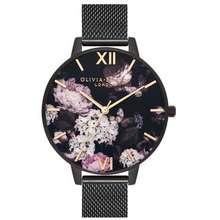 Olivia Burton Signature Florals 38mm Watch Black Hong Kong