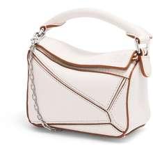 Loewe Nano Puzzle Bag In Classic Calfskin Soft White Hong Kong
