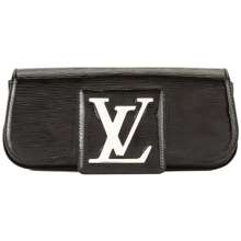 Louis Vuitton Sobe Leather Clutch Bag Black Hong Kong